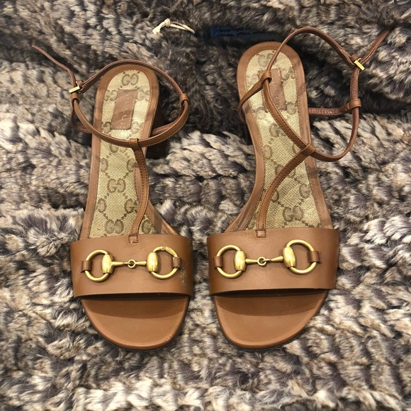 39349d510b80 Gucci Shoes - Gucci Leather mid heel Sandal